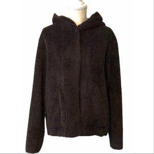 Cabi Faux Fur Hooded Snap Closure Jacket Medium